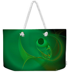 Weekender Tote Bag featuring the digital art Eye Of The Fish by Victoria Harrington