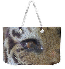 Weekender Tote Bag featuring the photograph Eye Of The Tiger by Donna G Smith