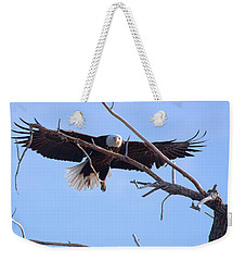 Weekender Tote Bag featuring the photograph Eyes On The Prize by Jim Garrison