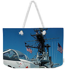 F4-phantom On The Deck Weekender Tote Bag