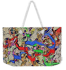 Fabric Of Life Weekender Tote Bag by Alec Drake