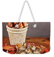 Weekender Tote Bag featuring the photograph Fall Bulbs 1 by Verena Matthew