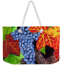 Fall Cabernet Sauvignon Grapes Weekender Tote Bag