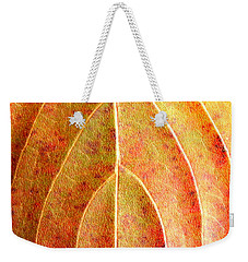 Fall Leaf Upclose Weekender Tote Bag