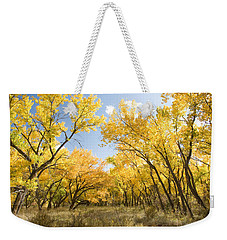 Fall Leaves In New Mexico Weekender Tote Bag