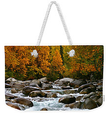 Fall On The Little Susitna River Weekender Tote Bag