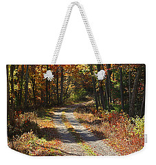 Weekender Tote Bag featuring the photograph Fall On The Wyrick Trail by Denise Romano