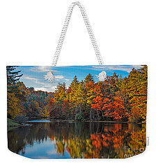 Fall Reflection Weekender Tote Bag by Ronald Lutz