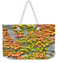 Weekender Tote Bag featuring the photograph Fall Wall by Michael Frank Jr