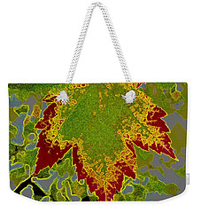 Weekender Tote Bag featuring the photograph Falling by Kathy Bassett
