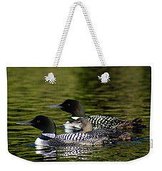 Family Swim Weekender Tote Bag by Steven Clipperton