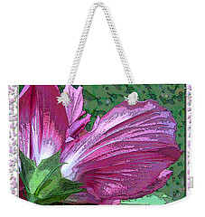 Weekender Tote Bag featuring the digital art Fancy Finish by Debbie Portwood
