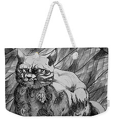 Fat Cat Fur Ball Weekender Tote Bag