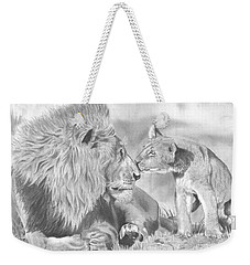 Father And Cub Weekender Tote Bag