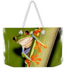 Feeling Froggy Weekender Tote Bag by Myrna Bradshaw