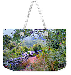 Fence To The Blueberries Filtered Weekender Tote Bag