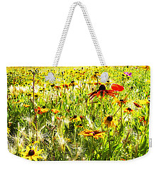 Field Of Bright Colorful Wildflowers Weekender Tote Bag