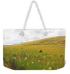 Field Of Dandelions Weekender Tote Bag