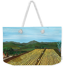 Field Of Yarrow-that's A Flower Weekender Tote Bag