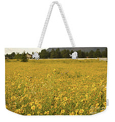 Field Of Yellow Daisy's Weekender Tote Bag