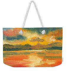 Fiery Sunset Weekender Tote Bag by Julie Brugh Riffey