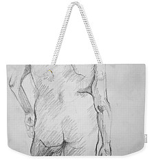 Weekender Tote Bag featuring the drawing Figure Study by Rory Sagner