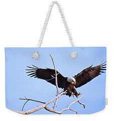 Weekender Tote Bag featuring the photograph Final Approach by Jim Garrison