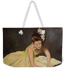 Weekender Tote Bag featuring the painting Final Preparations by Julie Brugh Riffey