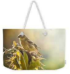 Finch Aglow Weekender Tote Bag by Cheryl Baxter