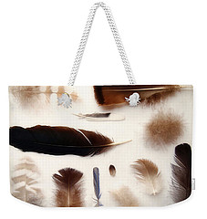 Finding Feathers Weekender Tote Bag by Angie Rea
