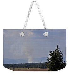 Fire In The Cascades Weekender Tote Bag by Mick Anderson