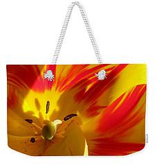 Fire Tulip Weekender Tote Bag