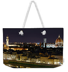 Firenze Skyline At Night - Duomo And Surroundings Weekender Tote Bag