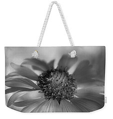 Weekender Tote Bag featuring the photograph Firewheel In Mono by Vicki Pelham