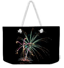 Weekender Tote Bag featuring the photograph Fireworks 11 by Mark Dodd