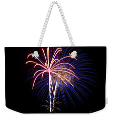 Weekender Tote Bag featuring the photograph Fireworks 12 by Mark Dodd
