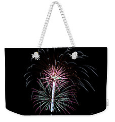 Weekender Tote Bag featuring the photograph Fireworks 13 by Mark Dodd