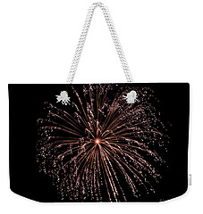 Weekender Tote Bag featuring the photograph Fireworks 3 by Mark Dodd