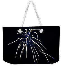 Weekender Tote Bag featuring the photograph Fireworks 4 by Mark Dodd