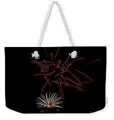 Weekender Tote Bag featuring the photograph Fireworks 6 by Mark Dodd