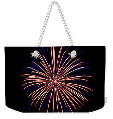 Weekender Tote Bag featuring the photograph Fireworks 7 by Mark Dodd