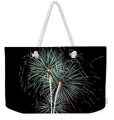 Weekender Tote Bag featuring the photograph Fireworks 8 by Mark Dodd