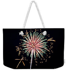 Weekender Tote Bag featuring the photograph Fireworks 9 by Mark Dodd