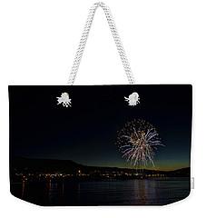 Fireworks On The River Weekender Tote Bag