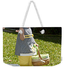 Weekender Tote Bag featuring the photograph First Easter Egg Hunt by Steven Sparks