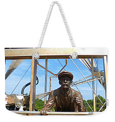 Weekender Tote Bag featuring the sculpture First In Flight  by Lydia Holly