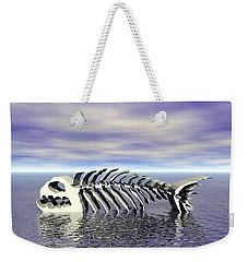 Weekender Tote Bag featuring the digital art Fish Bones by Phil Perkins