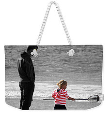Weekender Tote Bag featuring the photograph Fish With Me Daddy by Terri Waters