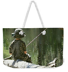 Fishin' And Wishin' Weekender Tote Bag by Myrna Bradshaw