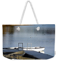 Fishing Boats Weekender Tote Bag by Linsey Williams